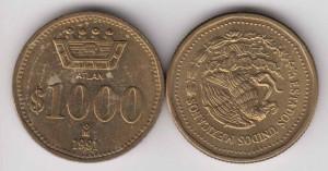 mex1000pesos1991