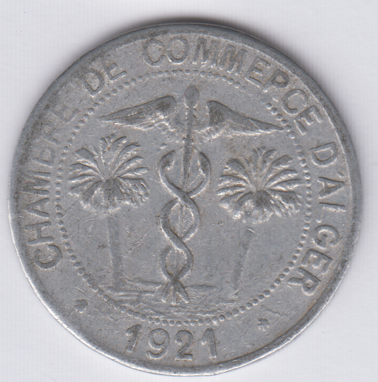 world coins dealer algeria algerie 10 centimes 1921