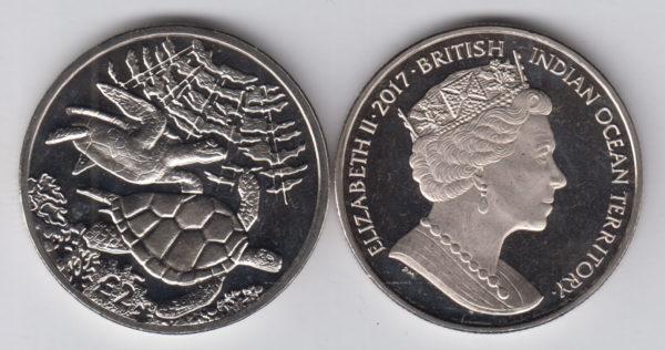 world coins collection british indian ocean elizabeth II